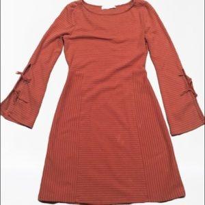 Summer & Sage Burnt Orange Striped Dress